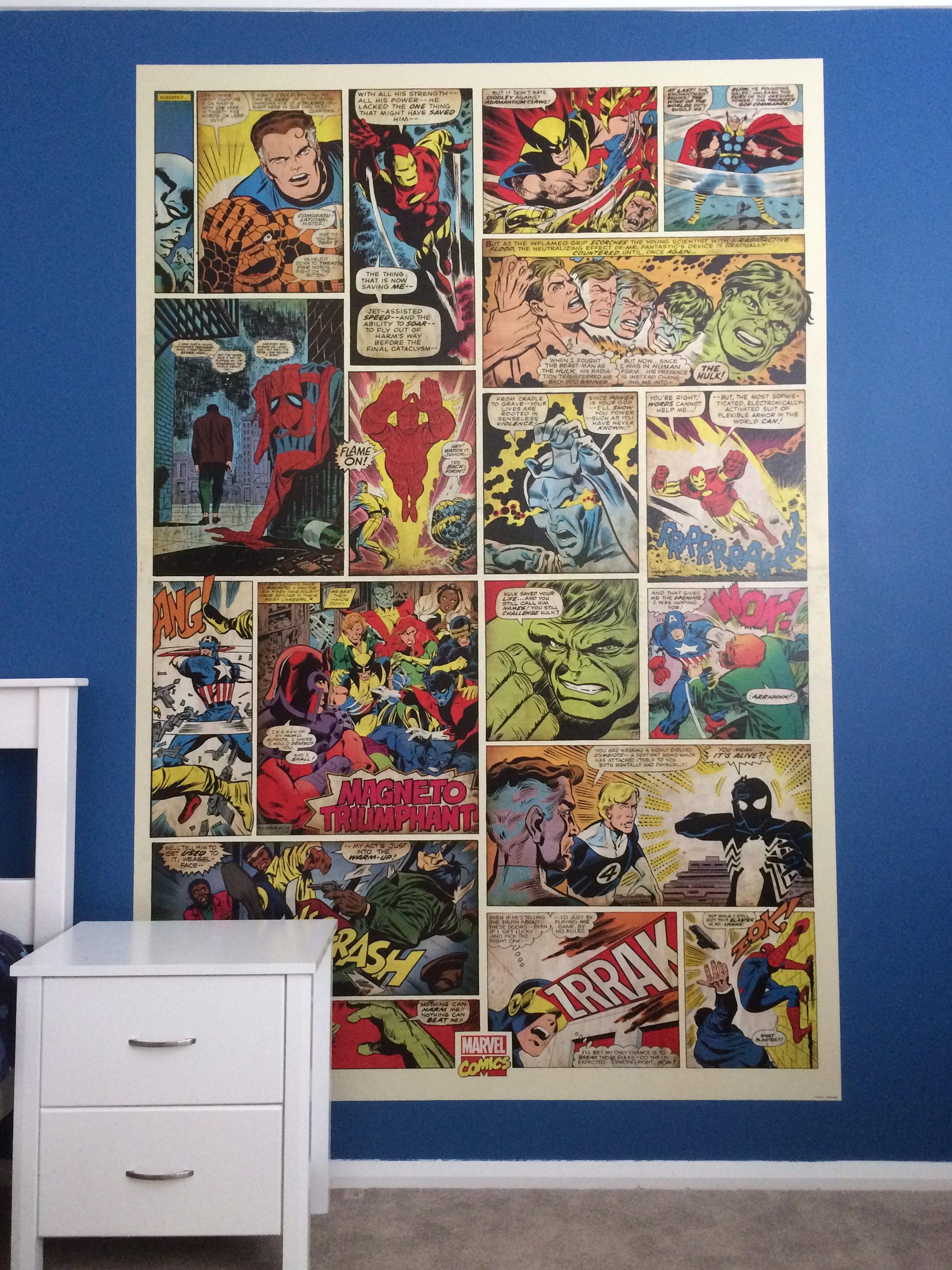 Marvel Comic Mural In Boys Bedroom Dalkeith
