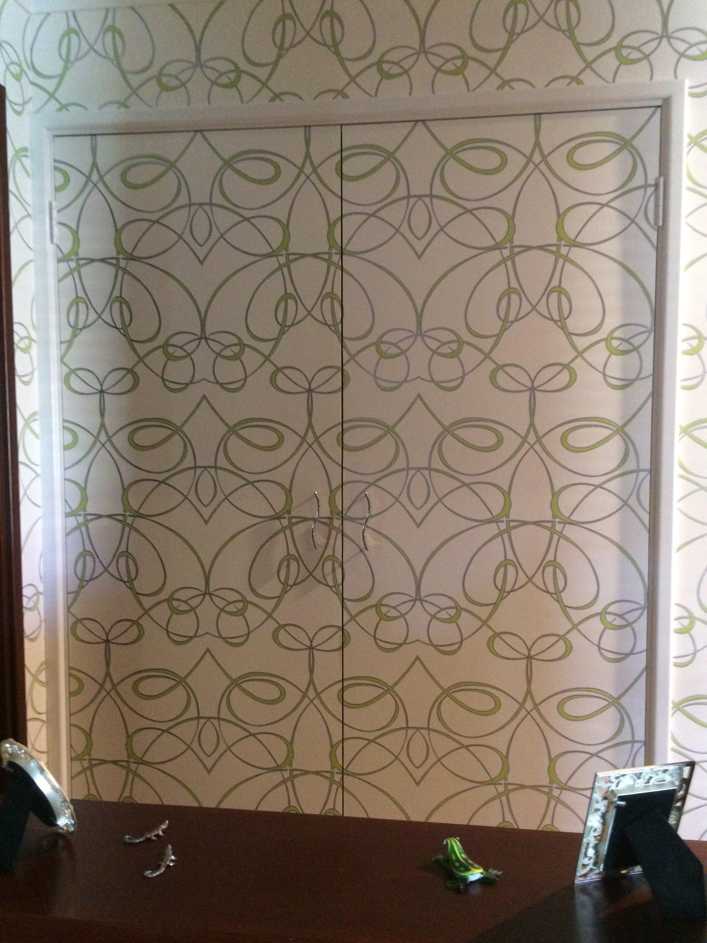 Double Doors with Wallpaper