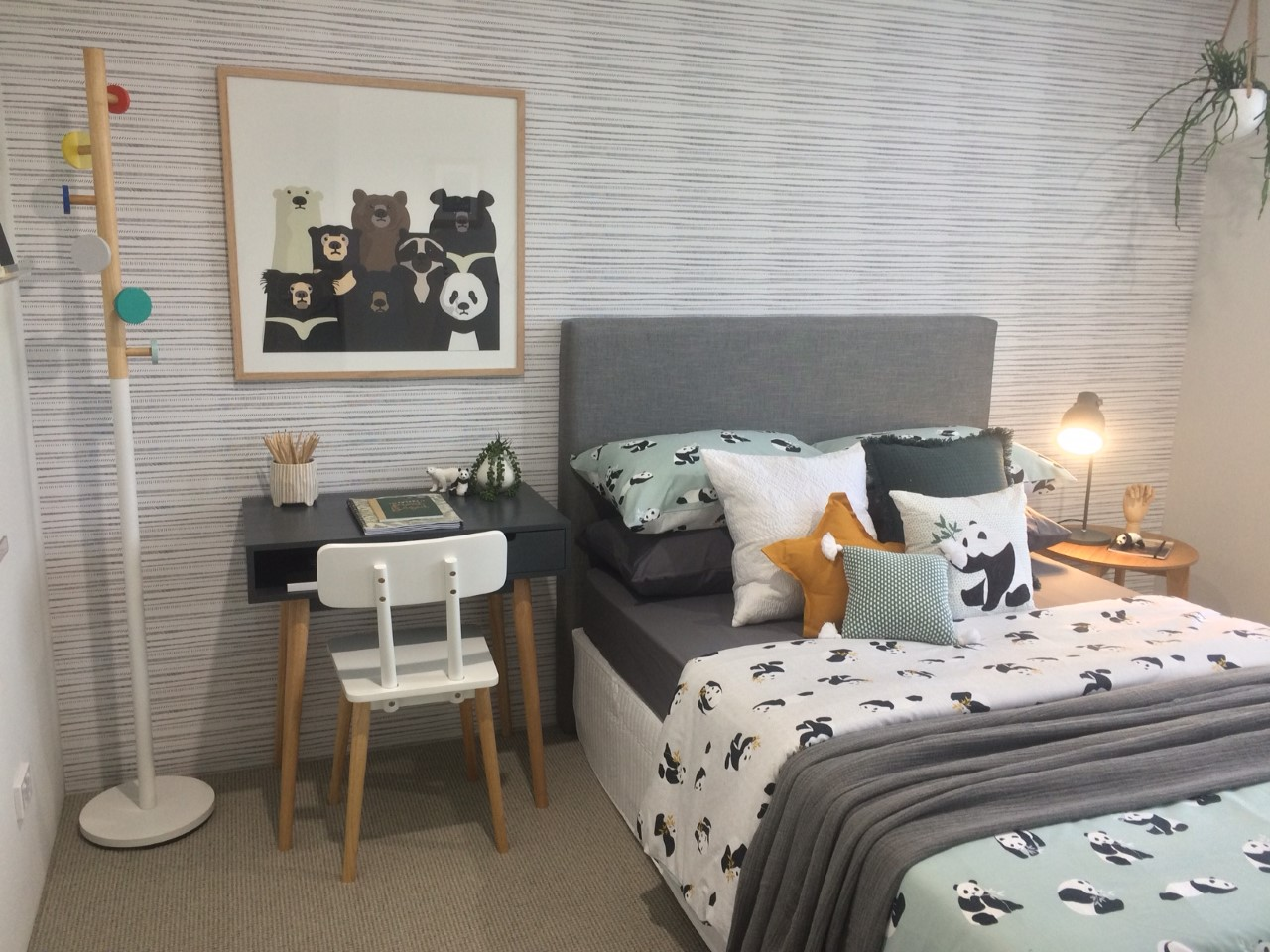Bedroom Designed by Tarina Lyell for Homebuyers Showtime in Baldivis